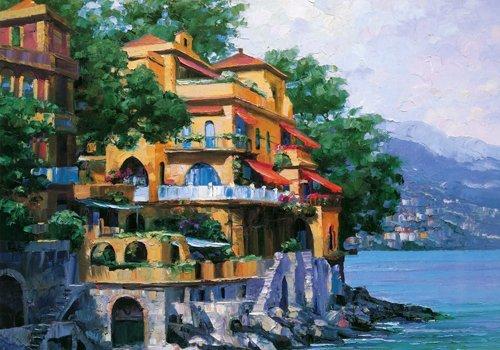Alu-Dibondbild Howard Behrens - Portofino Villa - 86 x 60cm - Premiumqualität - MADE IN GERMANY - ART-GALERIE-SHOPde -