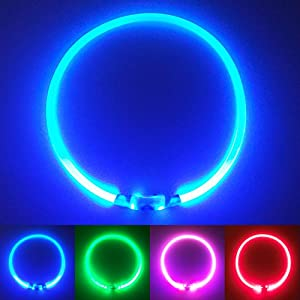 PetSol Ultra Bright USB Rechargeable LED Dog Safety Collar 12