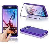 Numerva HTC One M7 Hülle, Schutzhülle [TPU Touch Case Handyhülle, Transparente PC Vorderseite] Handy Cover für HTC One M7 Rück-Rück-Schale [Lila]
