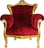 Casa Padrino Barock Sessel Lord Bordeaux/Gold