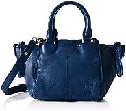 Liebeskind Minya Satchel Bag for Women, Leather - blue