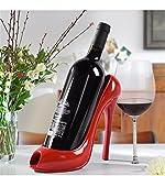 Resina continentale desktop rack vino minimalista e creativa a tacco alto giacche per calzature uomo Cantinette vino in bottiglia titolare desktop bar, rosso