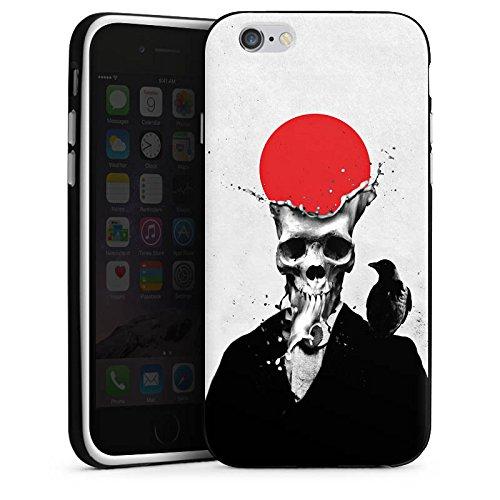 Apple iPhone X Silikon Hülle Case Schutzhülle Schädel Totenkopf Skull Silikon Case schwarz / weiß