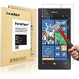 Nokia Lumia 520 Protection écran, iVoler® Film Protection d'écran en Verre Trempé Glass Screen Protector Vitre Tempered pour Nokia Lumia 520- Dureté 9H, Ultra-mince 0.20 mm, 2.5D Bords Arrondis- Anti-rayure, Anti-traces de doigts,Haute-réponse, Haute transparence- Garantie de Remplacement de 18 Mois