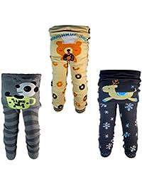 Backbuy 3 pantalones 0-24 meses para bebés niños leggings pantalones de punto A1A5A6