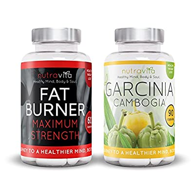 Nutravita Garcinia Cambogia (Pack of 90 Capsules) & Fat Burner (Pack of 60 Capsules) from Nutravita