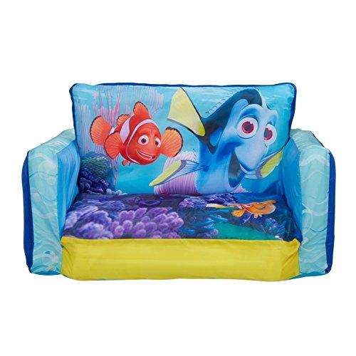 Findet Dorie 286FDO Aufblasbares und aufklappbares Mini Sofa, Plastik, blau, 26 x 68 x 105 cm