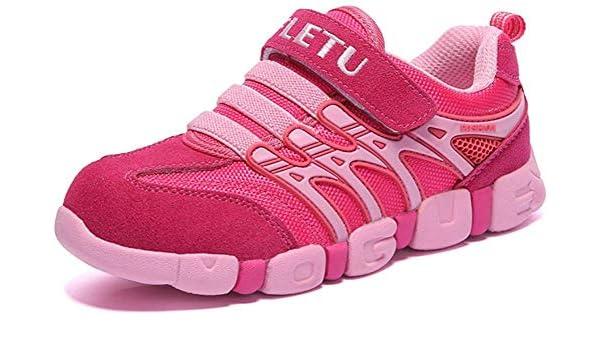 RUMPRA Boys Girls Running Shoes Kids Sneakers for Grade School Strap Hook/&Loop Walking Footwear Easy On