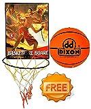 Dixon Basket Ball Board With Basketball (Size 7)
