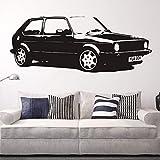 stickers muraux geant marvel Vintage XL grande voiture vw golf gti mk1 classique autocollant décoration papier autocollant de voiture