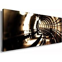 Kunstdruck Tunel / Bild 120x50cm / Leinwandbild fertig auf Keilrahmen / Leinwandbilder, Wandbilder, Poster, Pop Art Gemälde, Kunst - Deko Bilder