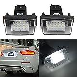 ZHUOTOP - Juego de 2 luces de matrícula para Peugeot 206/207/307/308 Citroen C3/C4/C5/C6 (18 ledes)