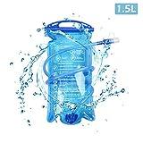 TRIWONDER TPU Bolsa de Agua Soft Flask 1.5-2-3L Vejiga de Hidratación Deportivas sin BPA a Prueba de Fugas Ideal para Mochila de Hidratación para Correr Ciclismo Senderismo (1.5L / 50oz)