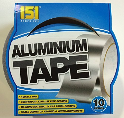 Aluminium Tape Adhesive Aluminium Foil Tape Heat Proof Multiple Use 48mmX10M by FC