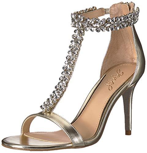 finest selection 102a9 70956 Jewel Badgley Mischka Women's Janna Heeled Sandal, Gold, 9 M US
