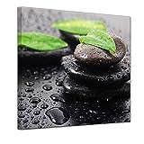 Bilderdepot24 Kunstdruck - Zen Steine III - Bild auf Leinwand - 60 x 60 cm - Leinwandbilder - Bilder als Leinwanddruck - Wandbild Geist & Seele - Asien - Wellness