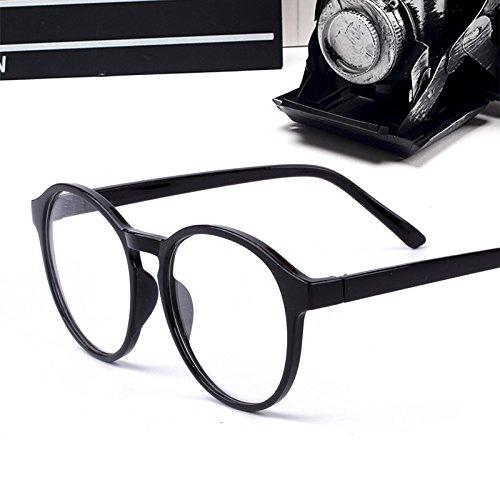 koreanische brillen - frame ms.man absatz flut retro - leopard dekorative brillen rahmen,schwarz (tuch)