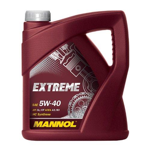 SAE 5W-40 Motoröl synthetisch MANNOL Extreme 4 Liter Kanister