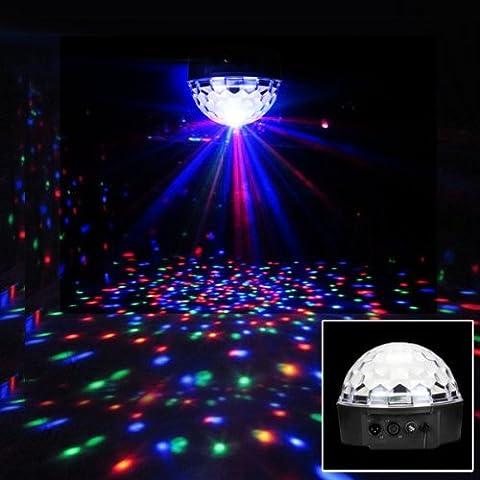 Seakin Lampe de Scène RGB LED 20W Commande DMX512 Contrôle Sonore Projecteurs à effets Boule Crystal pour Disco DJ Soirée Bar KTV Pub