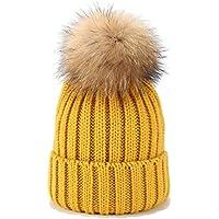 HP-YSH Gorro de Punto Caliente Suave Estiramiento de los Sombreros de Invierno Gorras de Moda para el Clima frío.