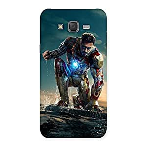 Delighted Style Genius Multicolor Back Case Cover for Galaxy J7