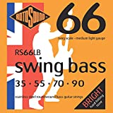 Rotosound Swing Bass Jeu de cordes pour basse Acier inoxydable Filet rond Tirant medium light (35 55 70 90)
