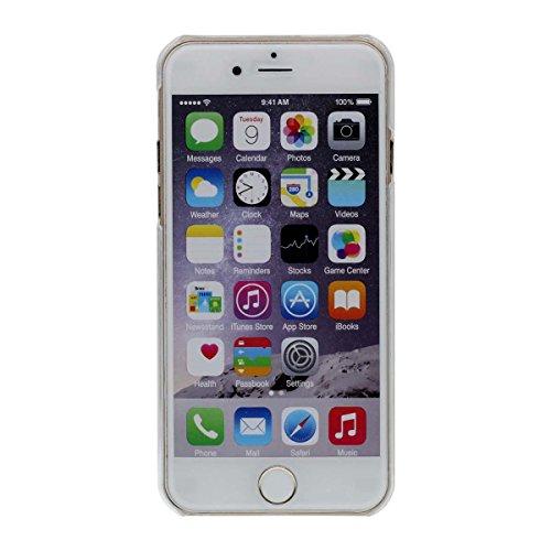 """iPhone 6S Plus Hülle Case, Schön Fließend Sterne - Weihnachten Santa Malerei - Hoch Klar Transparent Hart PC Flüssigkeit Wasser Stil Schutzhülle Stoßfest für Apple iPhone 6 Plus 6S Plus 5.5"""" Rot"""