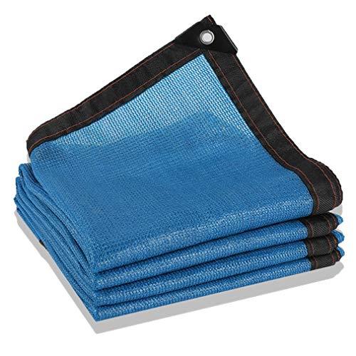 CUUYQ Schattierungsnetz Sonnensegel, Sunblock Shade Net Cloth mit ÖSen Sonnenschutz Segel Tuch Sunblock Schatten Segel Sommerabdeckung,Blue_3x4m/9x12ft