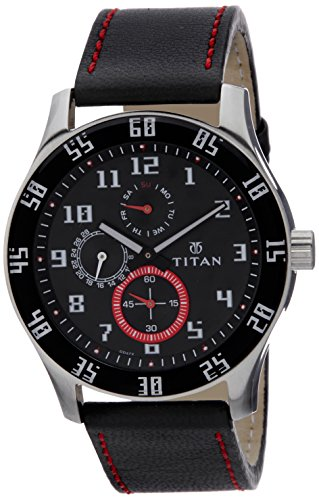 Titan Octane Analog Black Dial Men's Watch - 1632SL03
