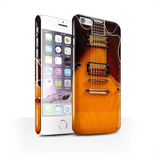 STUFF4 Glanz Snap-On Hülle / Case für Apple iPhone X/10 / Sunburst Electric Muster / Gitarre Kollektion Semi Akustik