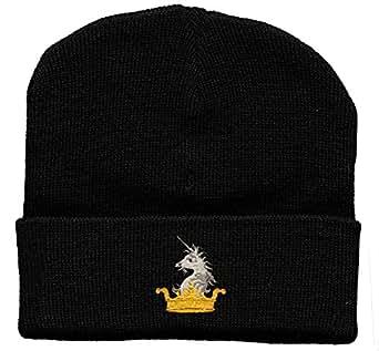 """HIP-hOP bonnet avec couronne einstickung """"licorne neufs (56526 laine bonnet de ski étanche)"""