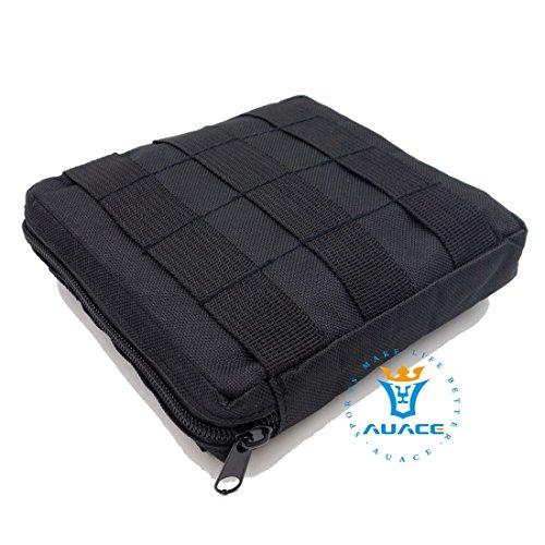 15x 15cm Ultra-Multifunktions Survival Gear Tactical Beutel MOLLE-Tasche, Outdoor Camping Tragbare Travel Bags Handtaschen Werkzeug Taschen Taille Tasche Handytasche BK