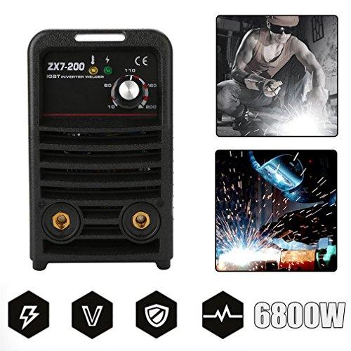 Hehilark 20-200Amps Profi E-Hand Elektrodenschweißgerät Inverter Schweißgerät Schweißmaschine IGBT Elektroden 6800W 230V Wechselrichter Schweißinverter (ZX7-200)