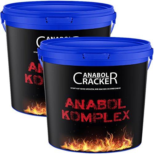 2X Anabol Komplex, Whey Protein Shake, Vanille und Banane, 2270g pro Eimer, Eiweißpulver Glutamin Molke