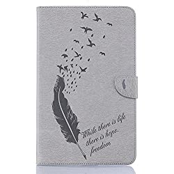 """KATUMO Coque Galaxy Tab A6 10.1"""" Case T580/T585, Housse Pochette Tablette Samsung Galaxy Tab A6 10.1""""(SM-T580/T585) Protection Flip Cover -Gris"""