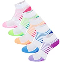 Aaronano 5 Pairs Women Half Cushioned Terry Athletic Running Socks
