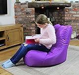 MaxiBean Bean Bag Pouf Intérieur Extérieur Jardin Coussin pour Fauteuil Relax Fauteuil pour Enfant Violet