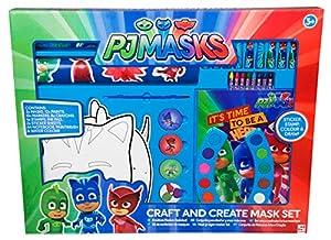 Sambro- PJ Mask Decora Y CREA Tu Máscara, Color Rojo/Verde/Azul (PJM-4582)