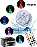 Lumière submersible de LED lumière spa - Alilimall Imperméable à l'eau Lumière Piscine Aimant LED sous marine, Lampes de bain à remous pour de vase d'aquarium, Décorations de la maison à Noël
