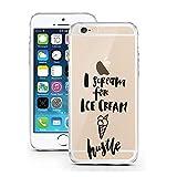 iPhone Cover di licaso per il Apple iPhone 5 & 5S SE di TPU Silicone I Scream for Ice Cream Hustle Pazzi Per Gelato Modello molto sottile protegge il tuo iPhone 5 & 5S SE con stile Cover e Bumper