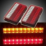 AUDEW 2x 20 LED Heckleuchte Auto LKW Anhänger Bremsen Hintere Endstück Indicator Light