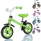 LCP Kids TRAX Bicicleta sin pedales niños con sillin regulable para edades de 2 a 4 años, Color: verde
