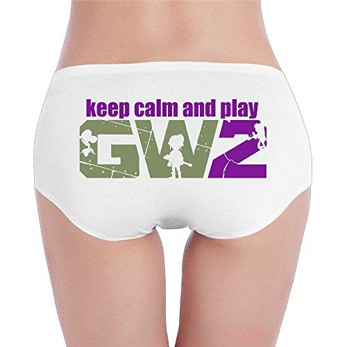 Sophie Warner Keep Calm and Play Game Basic Frauen Lady Mädchen Kostüme Mini Shorts Panty Hipster Slip Unterhose Set Baumwolle Gr. L, Weiß (Plants Vs Zombies Garden Warfare Kostüm)