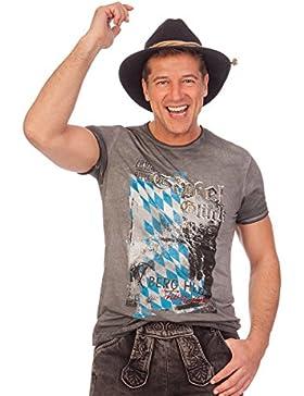 Trachten Herren Shirt - UWE - anthrazit