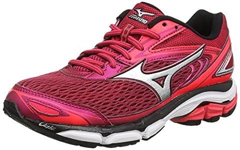 Mizuno Wave Inspire 13 (w), Chaussures de Running Entrainement Femme, Rouge (Persian Red/Silver/Black), 40.5 EU