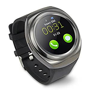 Bingo C8 Smart Watch in Metalic black Color With Sim Enable Features and Bluetooth Connectivity features Which Is Compatible With Android and IOS Device.