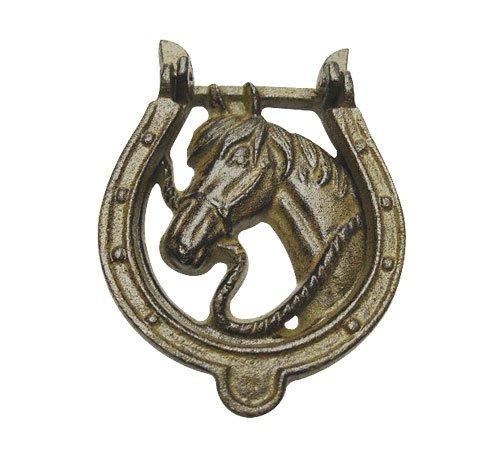 zeitzone Türklopfer Hufeisen Pferd Nostalgie Gusseisen Vintage Türdeko Antik-Stil