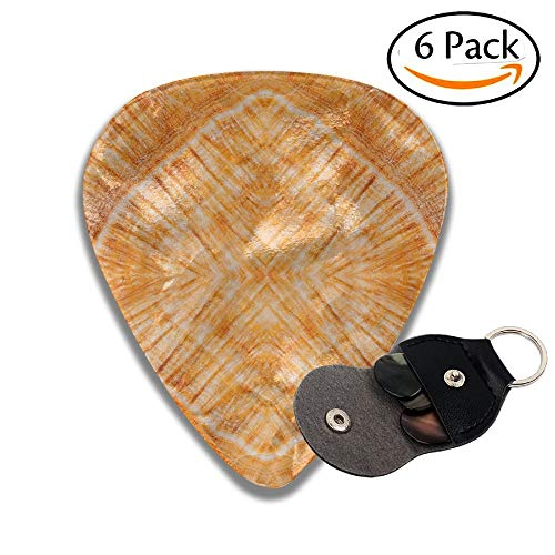 Wxf Stone Marble Background Stylish Celluloid Guitar Picks Plectrums For Guitar Bass 6 Pack.46mm -