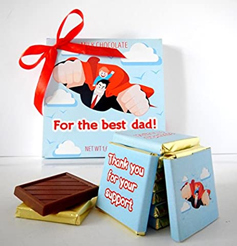 DA CHOCOLATE Cute Candy FOR THE BEST DAD Chocolate Gift Set 5x5in 1 box