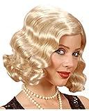 Horror-Shop 20er Jahre Charleston Perücke blond mit Wasserwelle für Fasching & Karneval